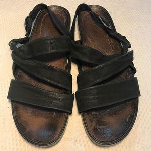 NAYA black nubuck suede sandals